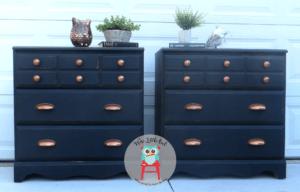 Set of farmhouse black dressers