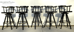 kitchen stools after