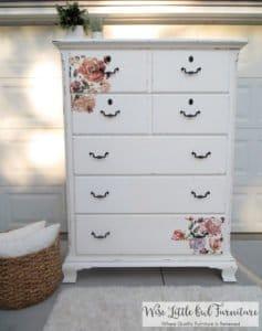 floral dresser after
