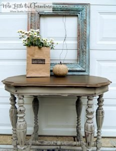 french linen entry table