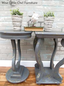 Pair of Accent Tables Closeup