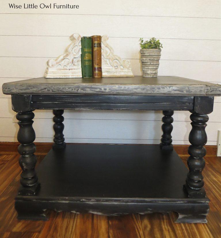 rustic wood grain coffee table