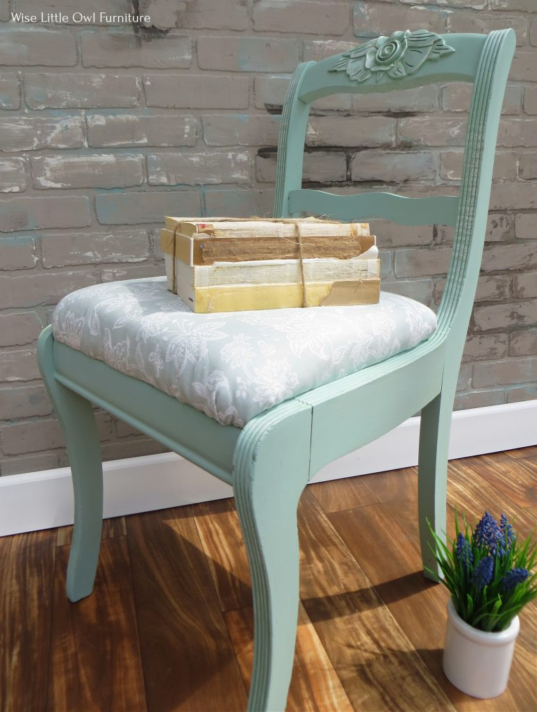 shabby chic chair side angle