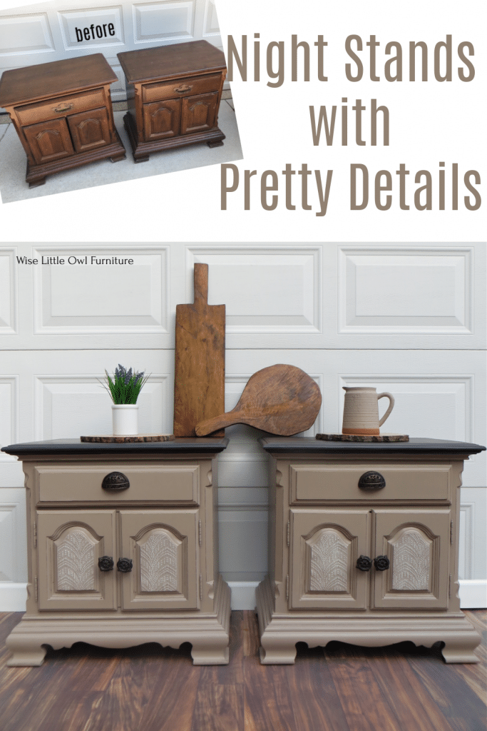 Night stands with pretty details pin