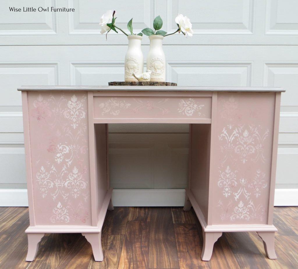 soft pink desk back