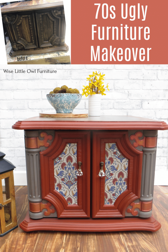 70s ugly furniture makeover pin