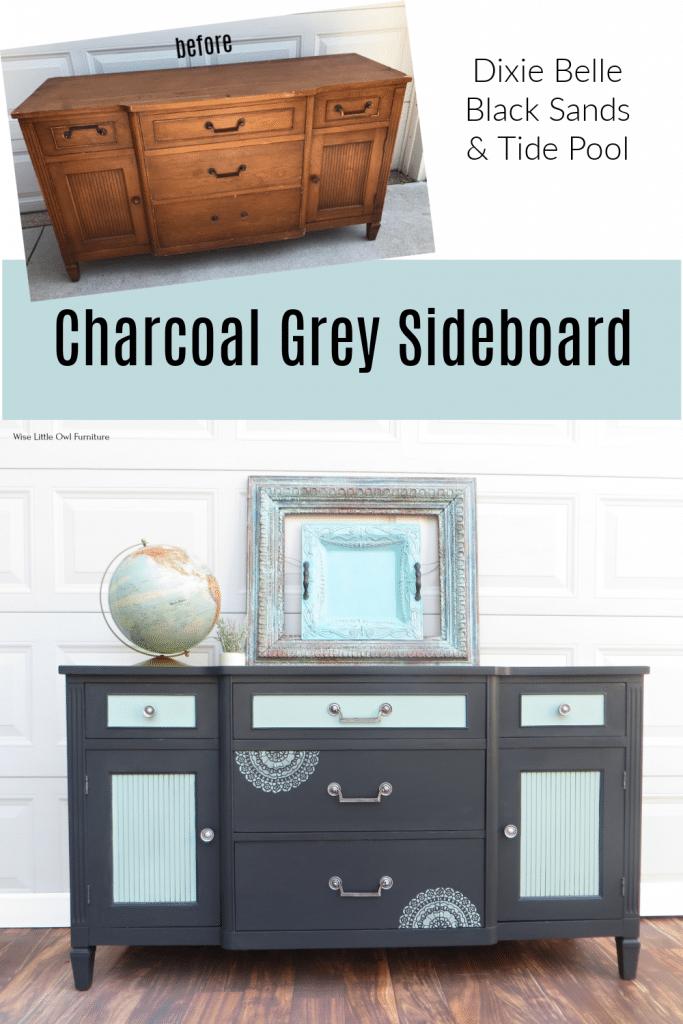 Charcoal Grey Sideboard pin