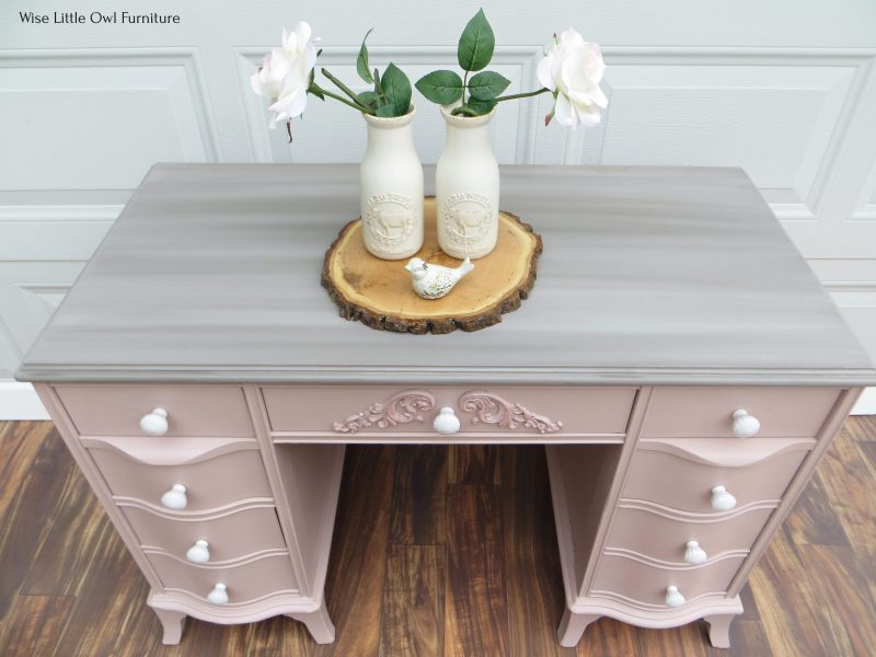 soft pink desk top